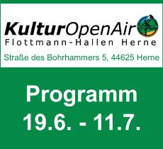 KulturOpenAir Flottmann-Hallen 2020