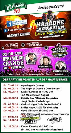 Karaoke Biergarten 2018