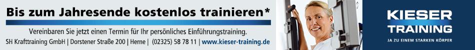 Kieser: Trainieren bis Jahresende