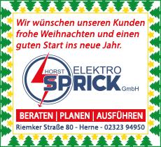 Weihnachtsgrüße Elektro Sprick
