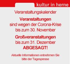 Veranstaltungskalender November abgesagt