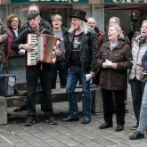 Der Flashmob sang das Steigerlied.