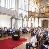 Gottesdienst mit anschließender Grundsteinlegung für den Erweiterungsbau des evangelischen Gemeindezentrums der Kreuzkirchen-Gemeinde am Europaplatz in Herne (NW), am Sonntag (15.09.2019).