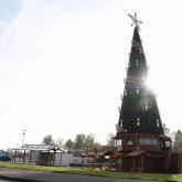 Aufbau des Cranger Weihnachtszauber - Rund drei Wochen vor Eröffnung