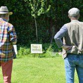 Schöne Wörter tummeln sich im Garten. Zweimal Jörg - Höhfeld und Lippmeyer.