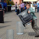 Beim Aktionstag Papierkram auf dem Gelände von entsorgung herne.