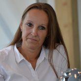 Pressekonferenz im fast neuen Parkhotel: Architektin Sabrina Gronotte.