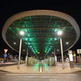Leerer Bahnhof Herne während der Ausgangssperre in Herne
