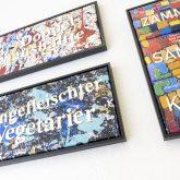 """Ausstellungseröffnung """"Rettet die schönen Wörter"""" mit Arbeiten von Jörg Lippmeyer im """"Hallenbad"""" an der Heinesraße in Herne (NW), am Samstag (06.03.2021)."""