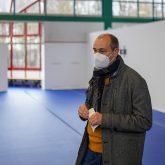Das Impfzentrum in der Sporthalle am Gysenberg wurde vorgestellt, im Bild (re.) Stadtsprecher Christoph Hüsken.