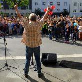 Volker Rosin begeisterte die Schüler.