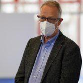 Das Impfzentrum in der Sporthalle am Gysenberg wurde vorgestellt, im Bild Dr. Eckhard Kampe, kassenärztliche Vereinigung Westfalen-Lippe.