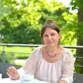 """Ausstellung """"material memories – Skulptur und Malerei"""" der Bildhauerin und Malerin Susanne Schmidt in der Städtischen Galerie. im Bild die Künstlerin Susanne Schmidt."""