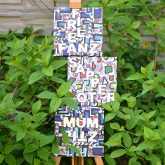 Schöne Wörter tummeln sich im Garten.