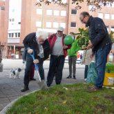 Urban Gardening vor der Kreuzkirche.