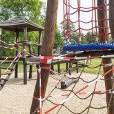 Wiedereröffnung des Frei-und Hallenbads Südpool in Herne (NW), am Dienstag (15.06.2021). Das Bad war infolge der Corona-Pandemie seit November des letzten Jahres geschlossen. Der Spielplatz ist wegen einer TÜV-Prüfung noch geschlossen.
