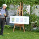 Schöne Wörter tummeln sich im Garten. im Bild: Hans-Jürgen Jaworski.