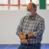 Das Impfzentrum in der Sporthalle am Gysenberg wurde vorgestellt, im Bild Lutz Mahlke, stellvertretender ärztlicher Leiter.