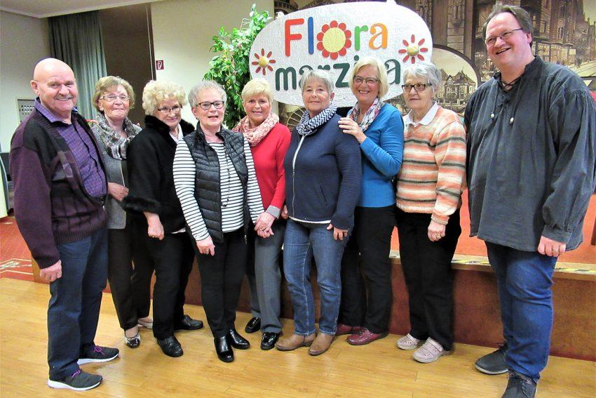 Vorstand des Seniorenchores Flora Marzina