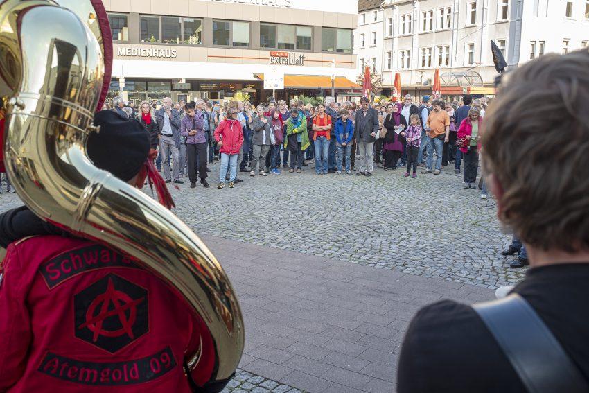 Demonstration des Herner Bündnis gegen den erneuten Aufmarsch von Neonazis als