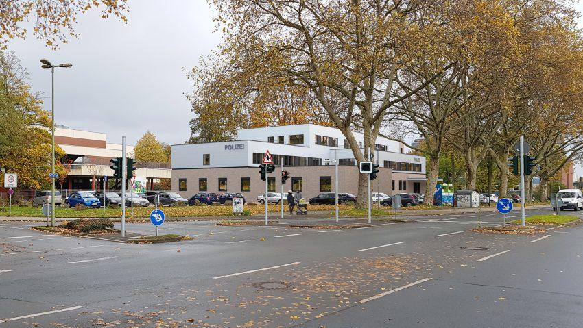 Neues Gebäude für die Polizei Herne an der Cranger Straße Ecke Harpener Weg, hier Blick aus süd-westlicher Richtung.