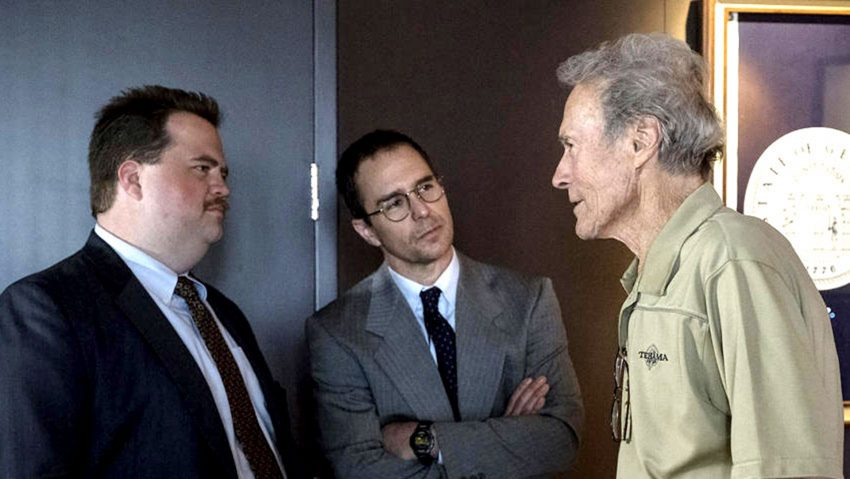 Die Hauptdarsteller mit dem Regisseur Clint Eastwood.
