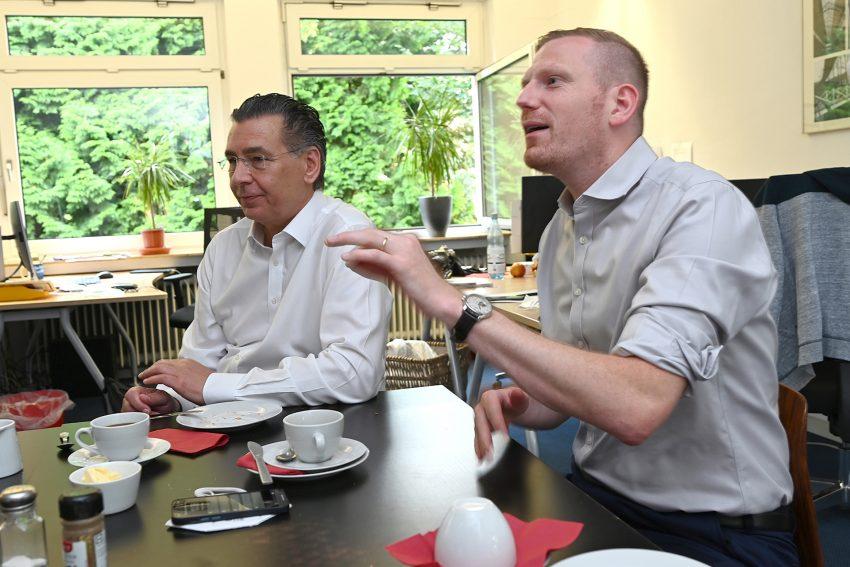 Die beiden Chefs der Herner Ratskooperation: v.l. Udo Sobieski und Timon Radicke.