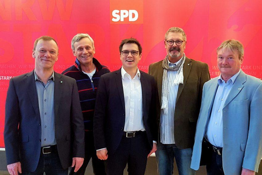 v.l. Frank Stieglitz, Wolfgang Siebert, Alexander Vogt MdL, Hans Peter Karpinski, Peter Achilles.