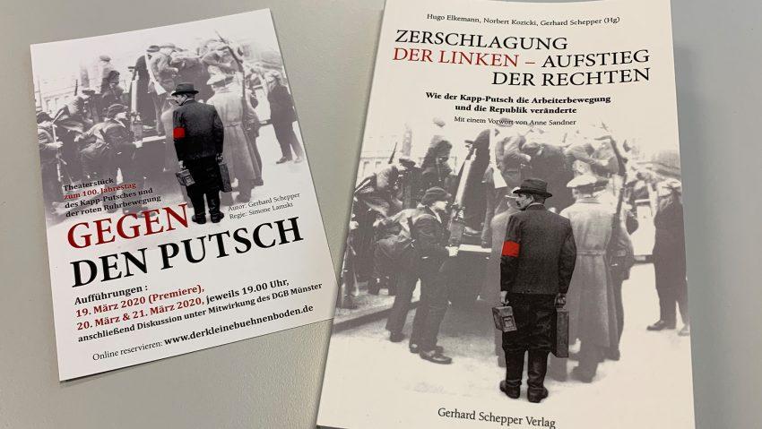 Buchvorstellung Zerschlagung der Linken - Aufstieg der Rechten von der DGB Geschichtswerkstatt Herne und weiteren Personen.