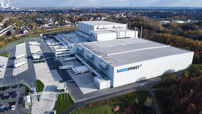 Die Nordfrost-Niederlassung in Herne aus der Luftperspektive.