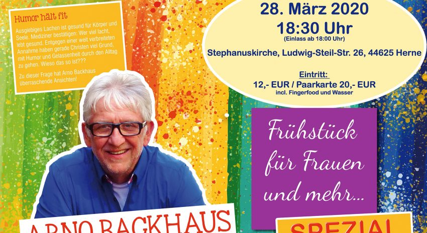 Plakat zum Konzert von Arno Backhaus.