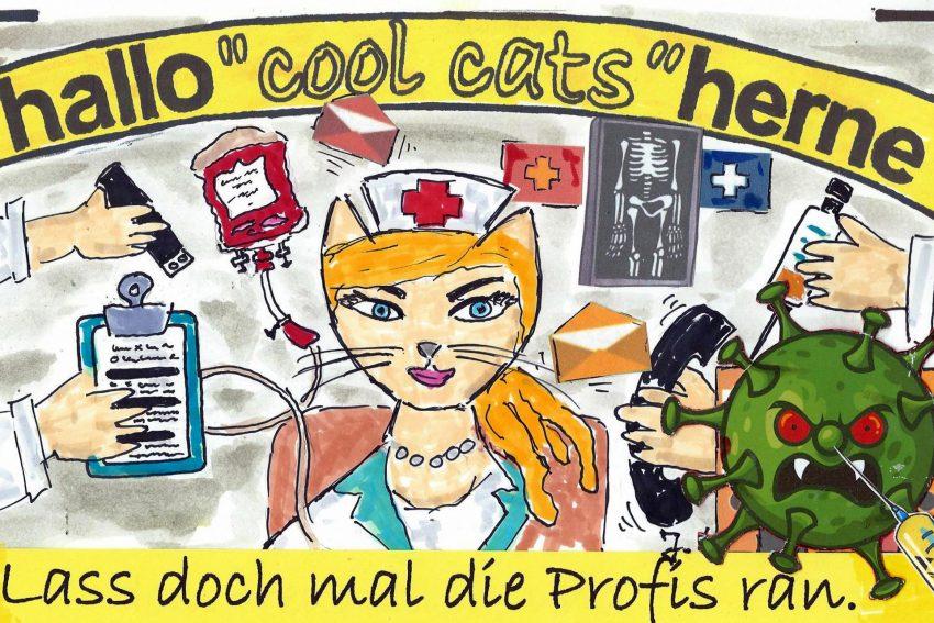 Die Cool Cats haben ihre ganz eigene Meinung zu dem Impf-Trauerspiel.