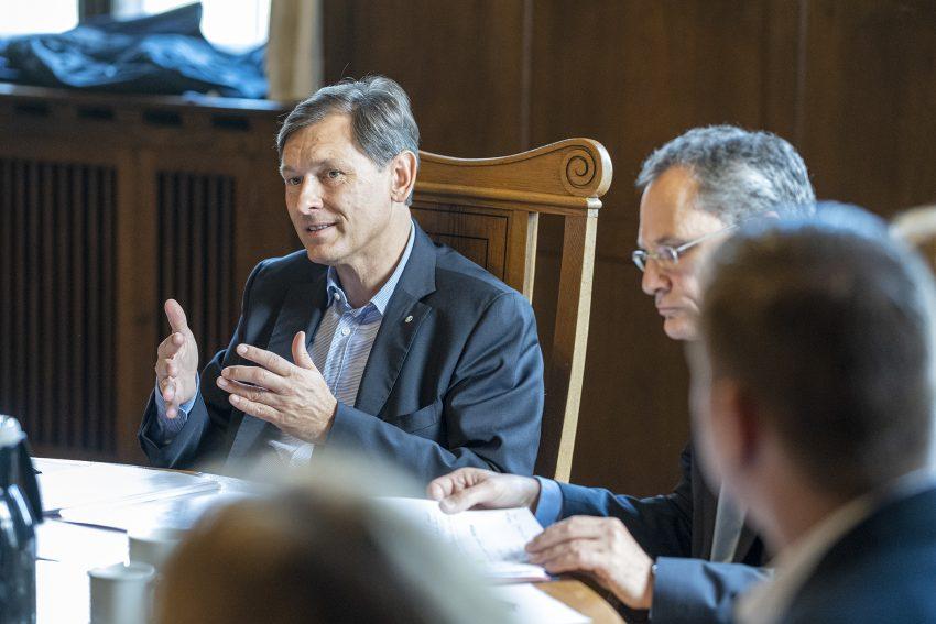 Vorstellung der Zahlen für den Arbeitsmarkt in Herne (NW), am Montag (30.09.2019). Im Bild: Oberbürgermeister Dr. Frank Dudda.