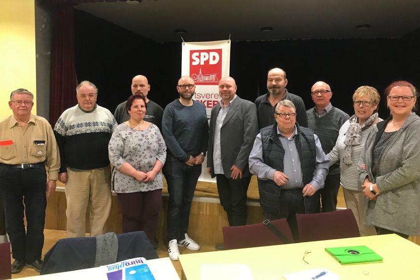 SPD Bickerne wählt Vorstand 2020: Andreas Hentschel-Leroy (Vorsitzender); Tobias Ahrens (stellv. Vorsitzender); Michael Girschol (Kassierer); Susanna Hentschel-Leroy (stellv. Kassiererin) Harald Grimm (Schriftführer); Yvonne Lehnert (stellv. Schriftführerin).