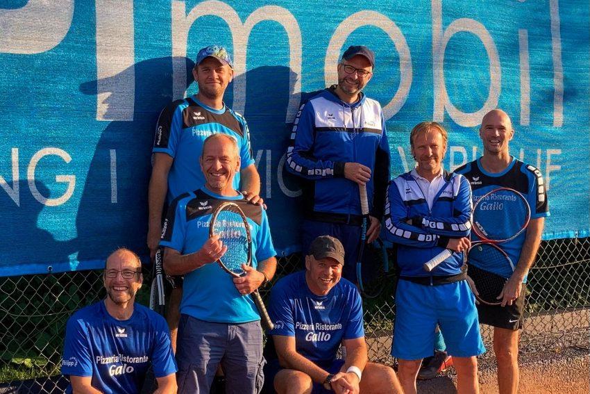 Hinten link: Daniel Lankau, Lars Heid, Vorne: Rainer Kreße, Uwe Kurth, Stefan Neumann, Sven Reichstein.