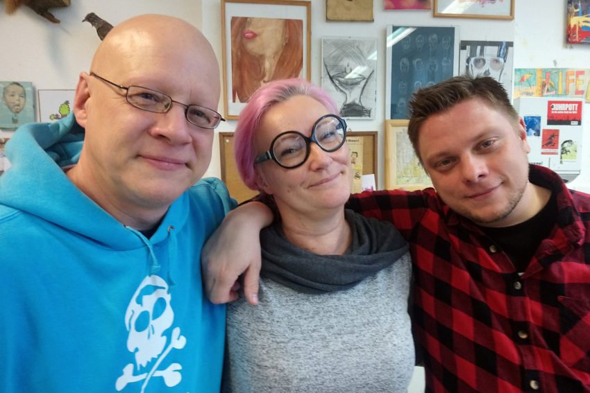 v.l. Torsten Kropp, Dagmar Gosejacob, Michael Holtschulte.