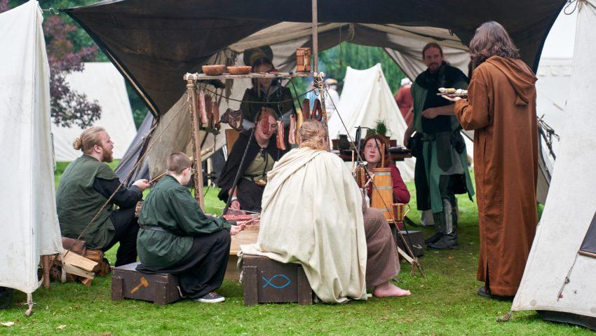 Der Mittelaltermarkt entführte die Besucher in eine andere Welt.