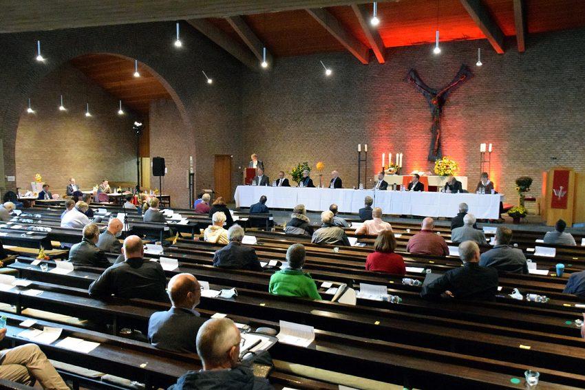 Tagung der Kreissynode am 3.10.2020 in der evangelischen Kirche am Regenkamp.