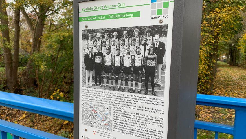 Eröffnung der Hardenbergbrücke über den Dorneburger Mühlenbach zum Sportpark Eickel.