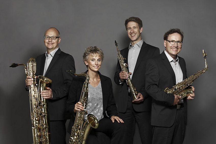 Das Pindakaas Saxophon Quartett.