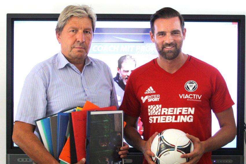 v.l. Christian Stiebling und Christoph Metzelder