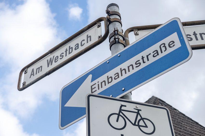 Straßenschild Am Westbach in Herne (NW), am Dienstag (19.02.2019).