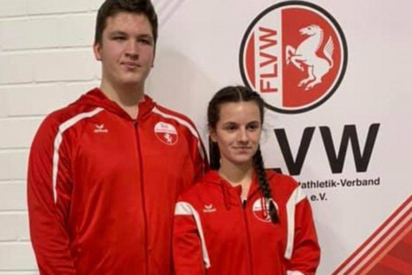 v.l. Niklas Droege und Ava Lukosch von LC Westfalia.
