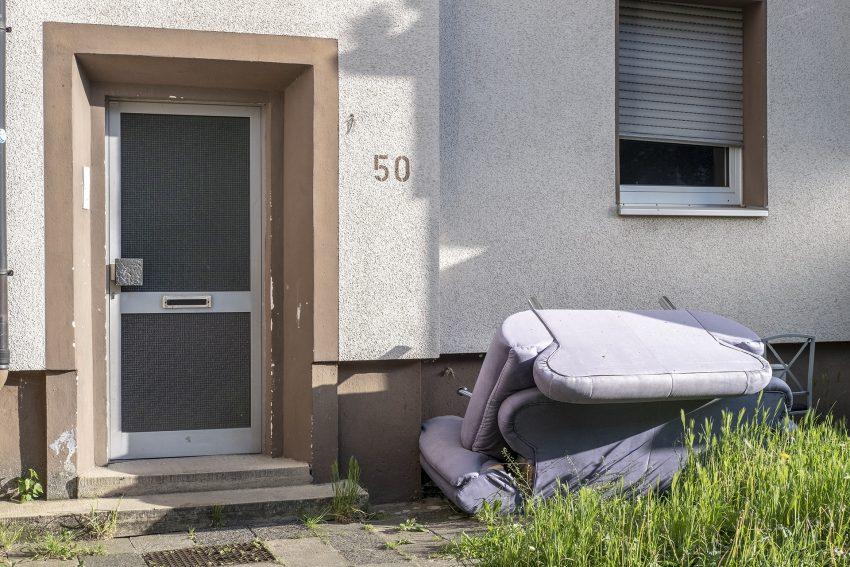 Müllproblem an der Düngelstraße 50.