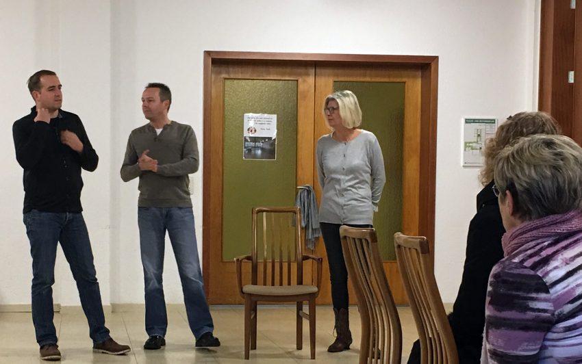 v.l. Stefan Horstmann (Bürgerinitiative EDZ), Michael Umbach, Heike Strauß.