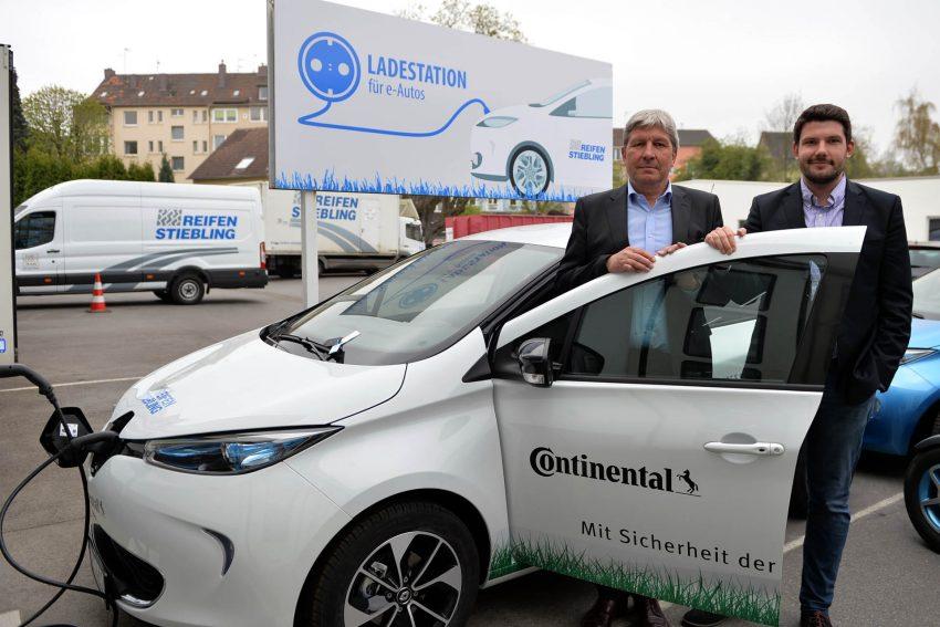 Pressekonferenz: Elektroautos der Reifen-Stiebling.