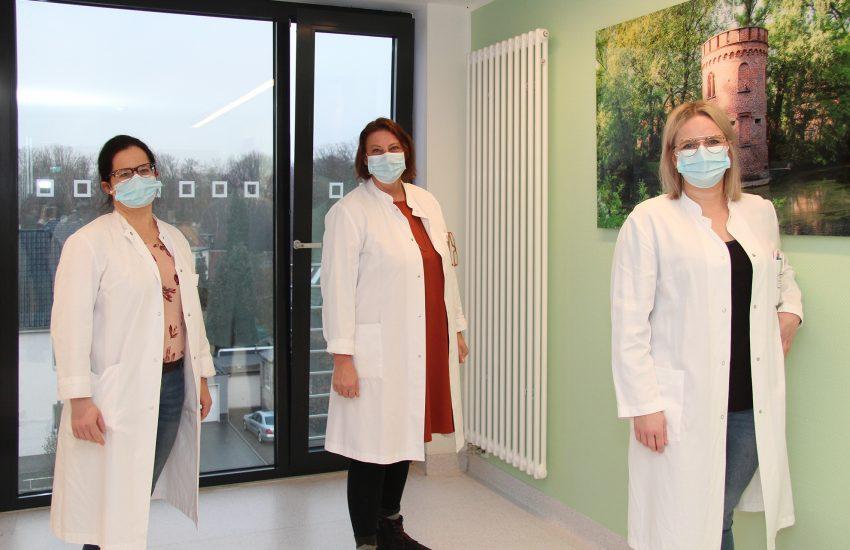 Die drei Pflegefachfrauen für Onkologie und Palliative Care (v.l.): Nadine Schroer-Ksiazek, Martina Wansel und Mandy Drafz.