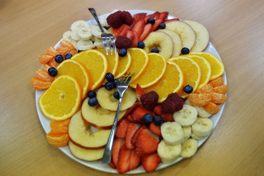 Obst zum Frühstück.