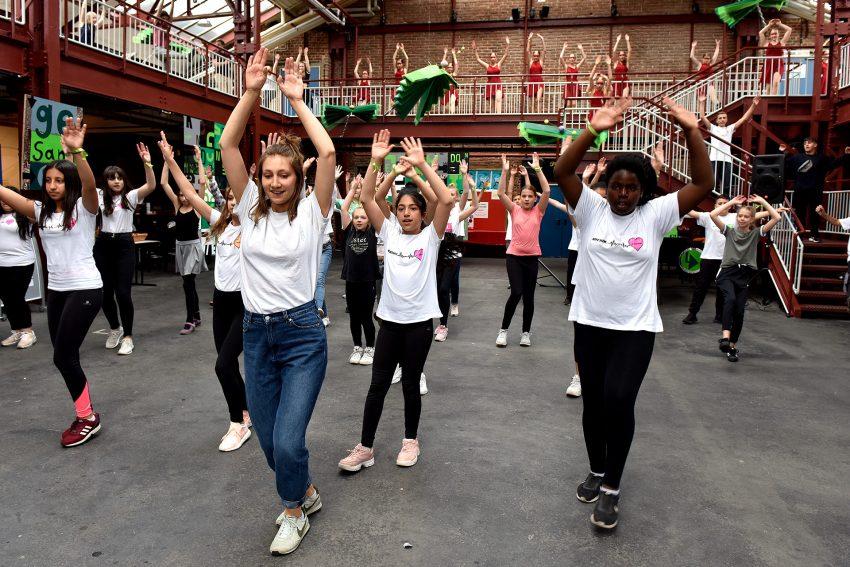Flashmob in den Flottmann-Hallen.