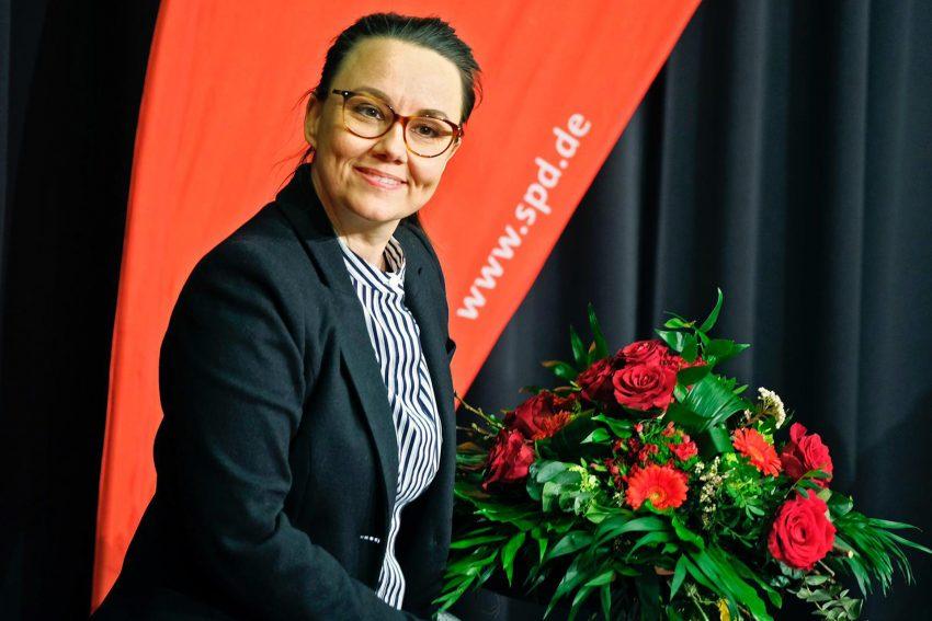 Bundestagsabgeordnete Michelle Müntefering wurde mit 89 Prozent auf der Wahlkreiskonferenz im März 2021 für den Wahlkreis Herne/Bochum II erneut als Kandidatin für den Bundestag aufgestellt.